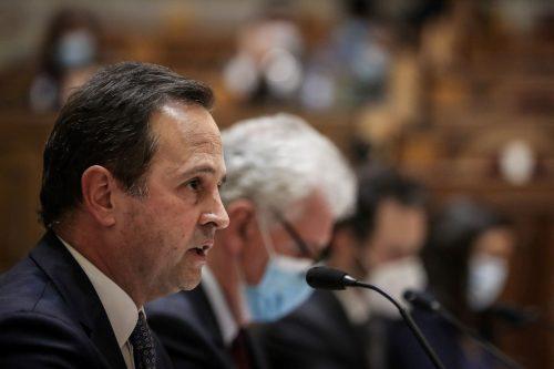 Fernando Medina durante a sua audição na Comissão de Assuntos Constitucionais, 24/6/2021 (MÁRIO CRUZ/LUSA)