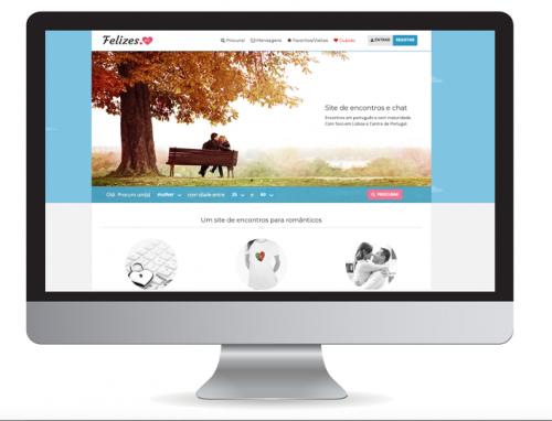 Homepage site Felizes.pt