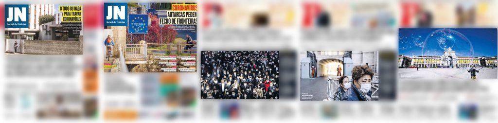 Os jornais Público e JN optaram por retratar locais comuns, agora vazios, na procura de imagens-sintomas que trazem consigo o oposto do que geralmente é retratado da paisagem urbana.