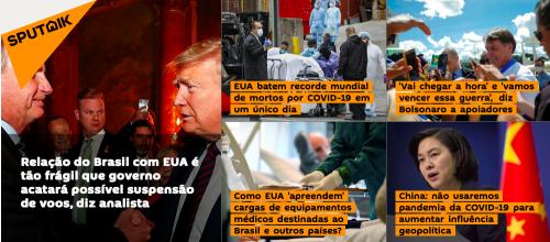 Destaques principais da Sputnik em português no dia 4 de abril (Reprodução)